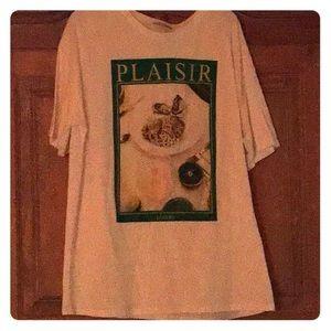 Zara         9 pearl T-shirt. Size  XL BEACH